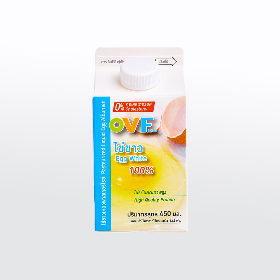 ไข่ขาวเหลวพาสเจอร์ไรซ์   450 มิลลิลิตร